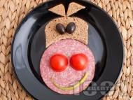 Лесен детски сандвич Усмихнатата крава